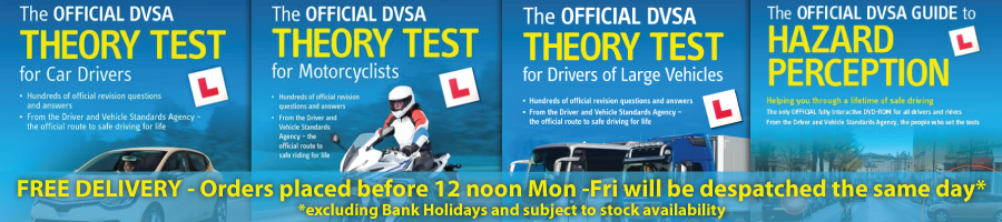 Theory Test and Hazard Perception Books and DVDs at discounted prices